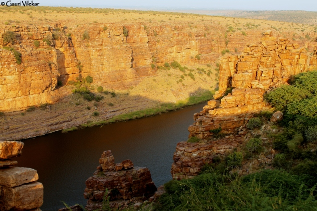 First glimpse of the Gorge at Gandikota