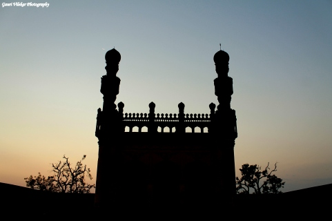 Ruined Masjid standing proud within the fort