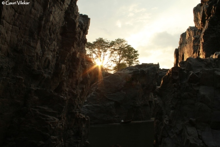 The first glimpse of the Carbonite rocks at sunset