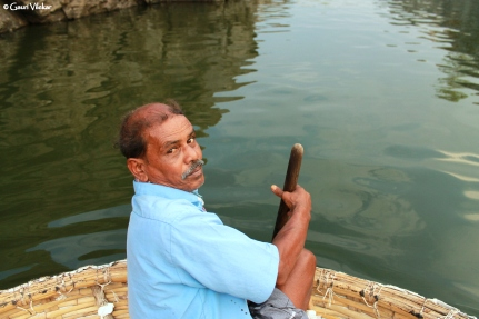 Our Coracle rower- Gopal