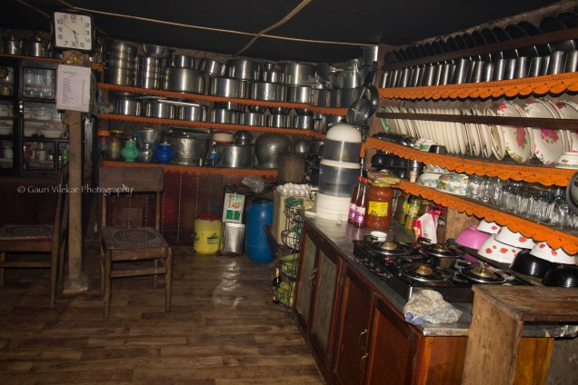 Kitchen of the homestay in Tonglu