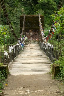 Hanging bridge over Sirikhola